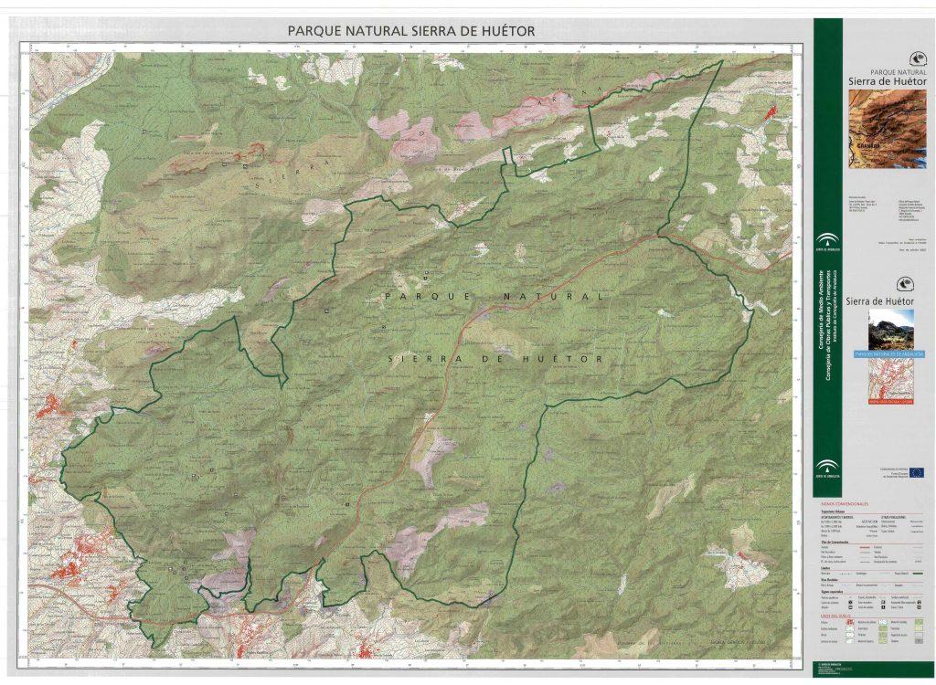 Descárgate el mapa completo de las Junta de Andalucía